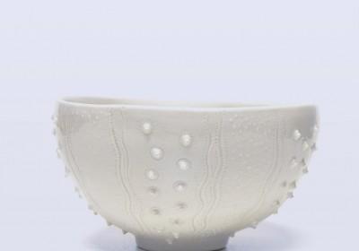 bol cuenco hecho a mano cerámica relieve