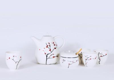 juego de te estilo japonés artesanal cerámica