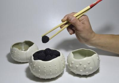 cerámica erizos cuencos