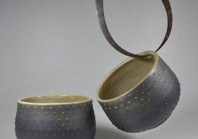 cuencos cerámica puntos