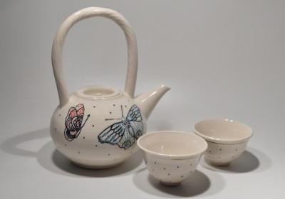 juego de té mariposas