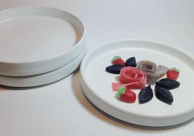 plato blanco plano