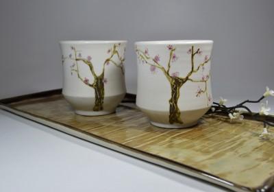 tazas flor cerezo