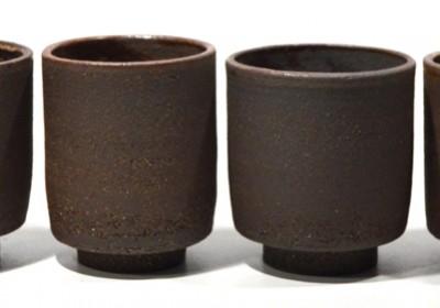 tazas marrón arenas