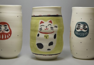 vaso de chupito estilo japonés